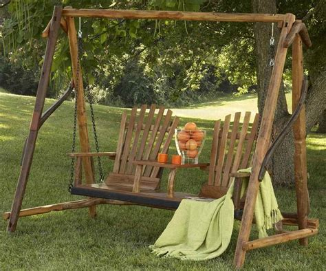 rustic swing rustic swing a must on the front porch swings gliders