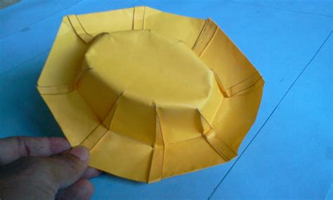 Origami Cap - how to make origami hat robert j lang