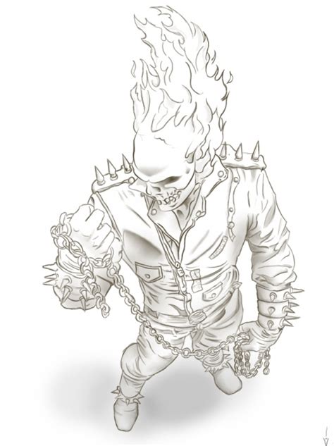 ghost rider coloring pages online online ghost rider printable coloring page superheroes
