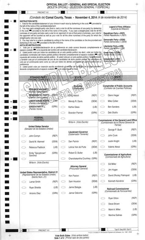 florida legislature 2014 registrations by principal name 2014 sle ballot comal county precinct 1 wingright