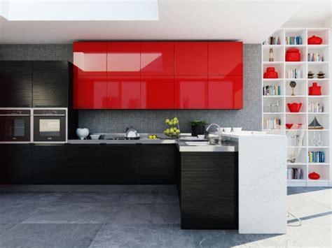 Kitchen Design And Color Kyledesign Cocina Rojo Ferrari