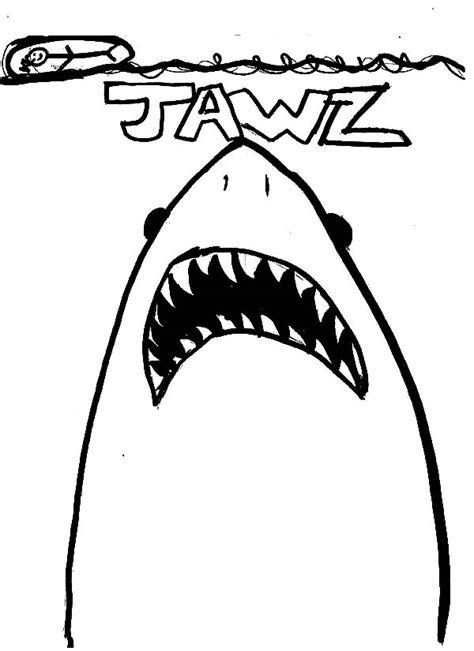 jaws free coloring pages