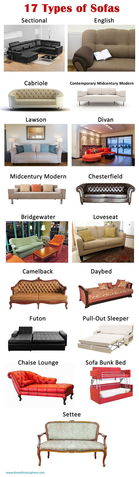 types of design styles 20 types of sofas couches explained with pictures