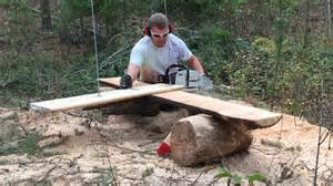 Logging Saw Bench Homemade Sawmill Mill Chainsaw Ftempo Inspiration