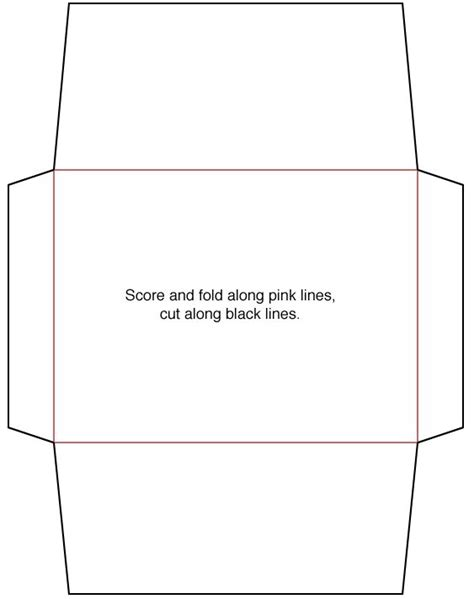 envelope template make pinterest