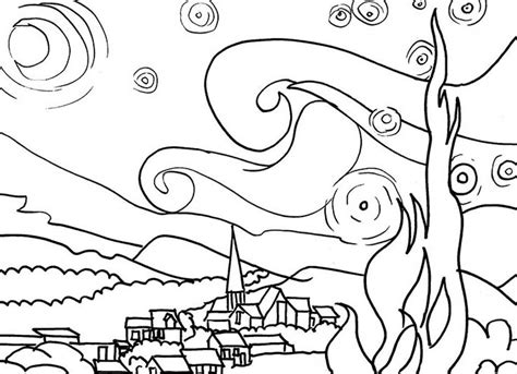 van gogh coloring pages pdf free coloring pages of gogh famous paintings