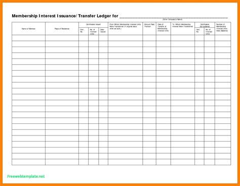 stock transfer ledger template 5 stock transfer ledger template excel ledger review