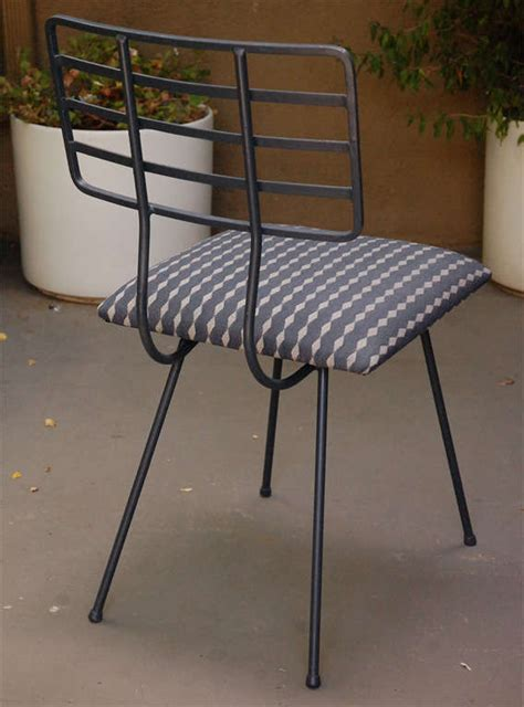 Glass And Metal Dining Table And Chairs Metal And Glass Outdoor Dining Table And Four Chairs At 1stdibs