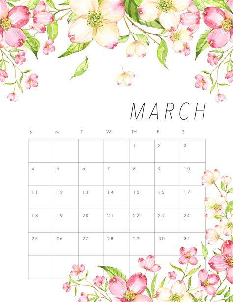 printable calendar 2018 flowers free printable 2018 floral calendar the cottage market