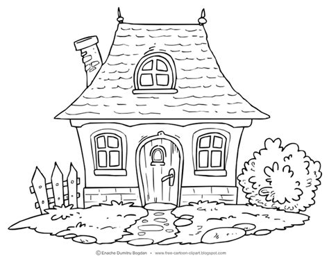 cottage house coloring pages cottage house clipart 41