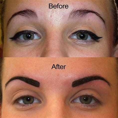 eyeliner tattoo disappeared eewwwwwww no one ever do this to your eyebrows it looks