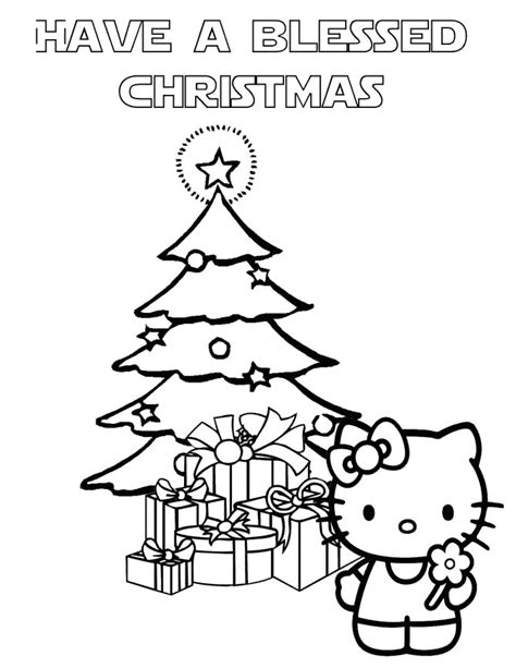 hello kitty christmas tree coloring page hello kitty christmas coloring page h m coloring pages