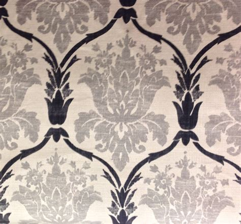 Black Damask Upholstery Fabric gray black and white damask upholstery fabric by the yard