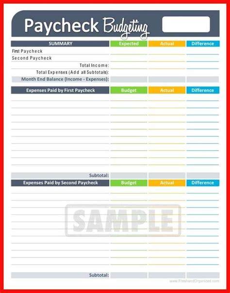 Bi Weekly Budget Template Apa Exle Budget Template For Saving Money