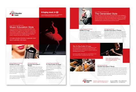 brochure design tutorial design your data sheet arts education center datasheet template