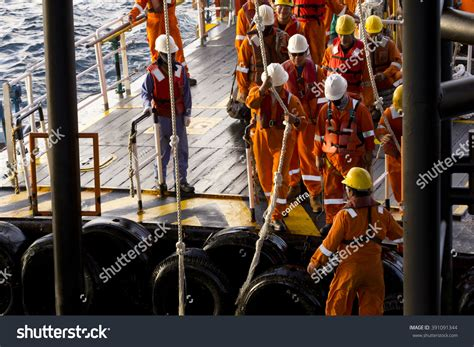 swing rope offshore south china sea brunei october 31 stock photo 391091344