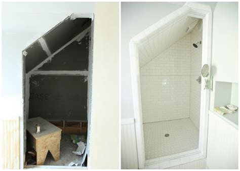 awkwardly shaped bathrooms designs from the nato s attic renovation before and after pictures