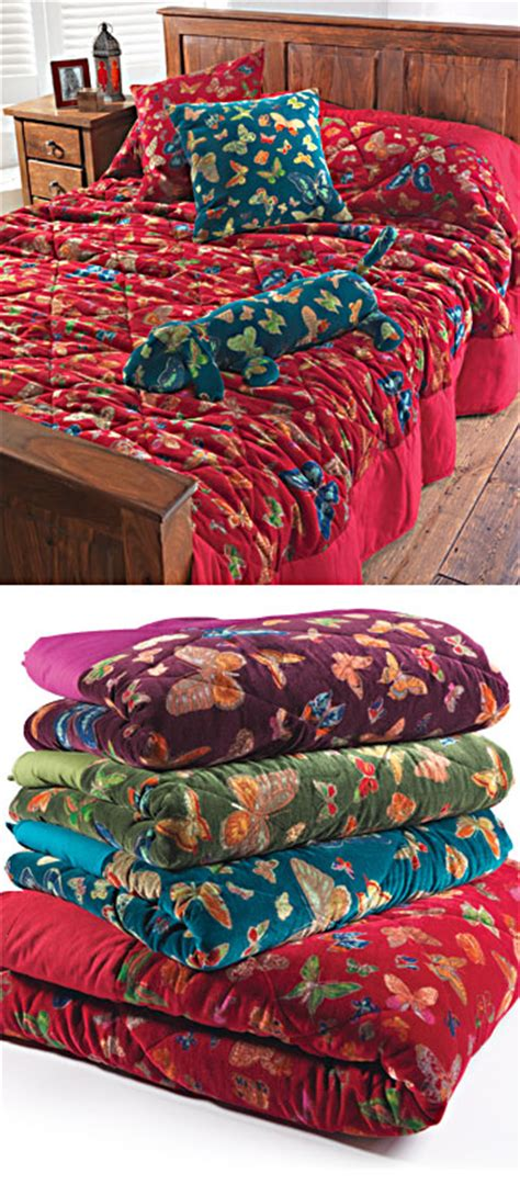 Cotton Velvet Quilt by Butterfly Print Cotton Velvet Quilt Gt Bedspreads Throws