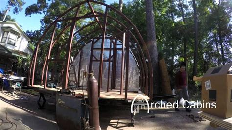 arched cabins tiny house     trailer youtube