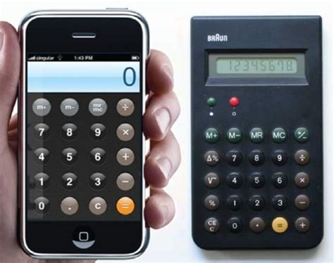 Iphone Iphone 6 Calculator Classic the braun products that inspired apple s iconic designs