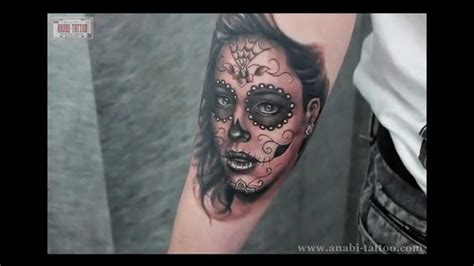 muerte lady by anabi tattoo 2012 youtube