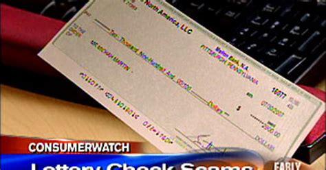 scam alert fake lottery checks cbs news