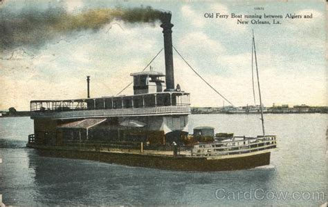 old ferry boat ferries postcard - Old Ferry Boat