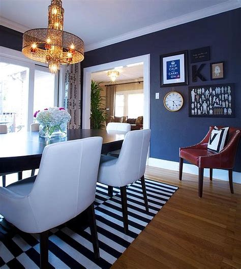 Dark Blue Dining Room | dining out in your new navy blue dining room