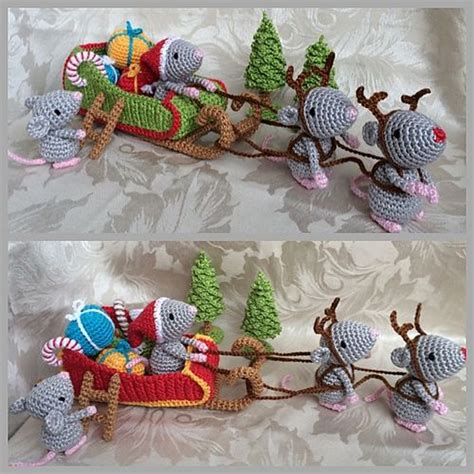 pattern for christmas mice ravelry mice and crochet patterns on pinterest