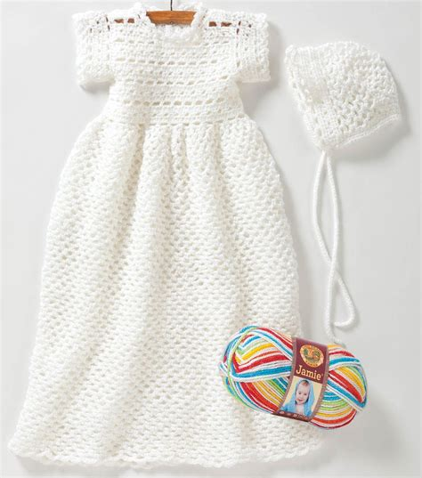 simple pattern baby dress free easy to crochet christening gown pattern