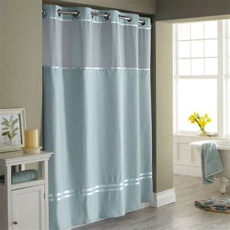 hookless shower curtains with snap on liner hookless shower curtain with snap liner decor ideasdecor