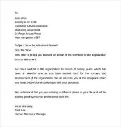 Farewell Letter To Colleagues Template by Sle Farewell Letters To Coworkers 12 Documents In