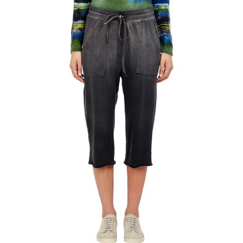 The Cropped Sweatpant lyst raquel allegra s sun fade cropped sweatpants