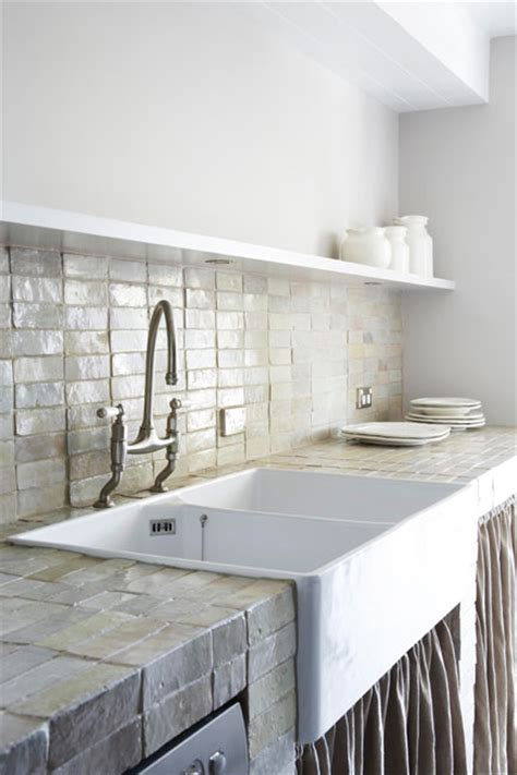 modern rustic kitchen featuring large apron front sink and