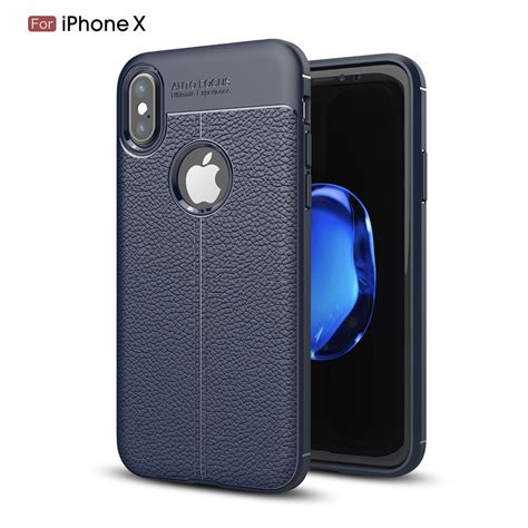 Autofocus Leather Iphone X wholesale iphone x ten tpu leather armor hybrid blue