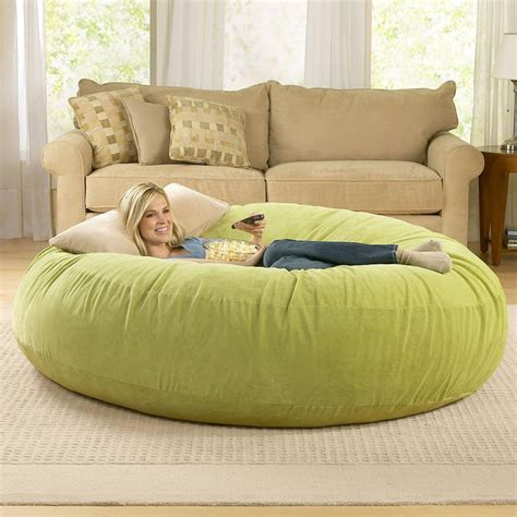 huge couch bed giant bean bag chairs the green head