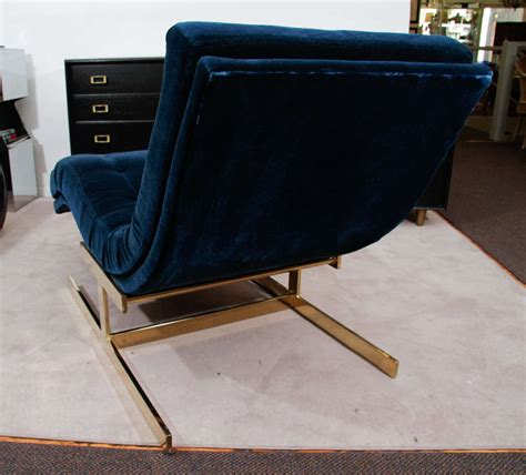 mid century chaise lounge chair mid century milo baughman quot wave quot chaise lounge chair at