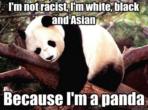 Im White Meme - im not racist im white black and asian because im a pan
