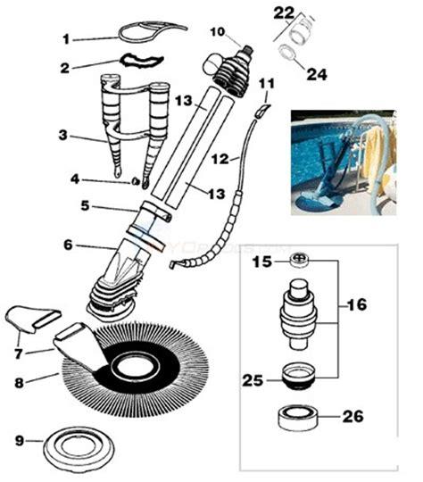 kreepy krauly parts diagram kreepy krauly model 94 to 99 parts inyopools