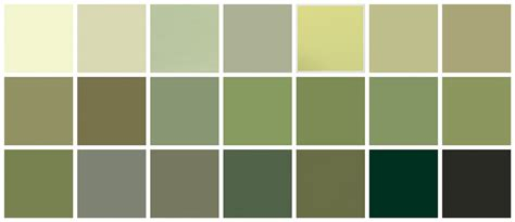 green paint swatches farrow ball paint green colors top row left to right