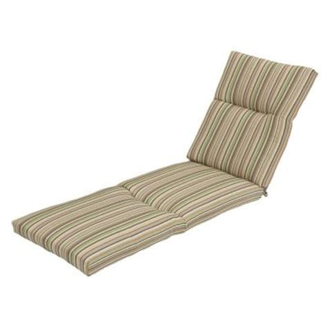 home depot chaise lounge cushions hton bay green stripe deluxe outdoor chaise lounge