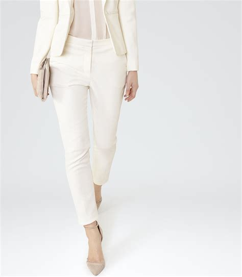 Tailored Trouser moon trouser white tailored trousers reiss