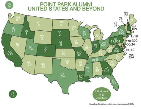 Point Park Mba Alumni by Alumni Map Point Park