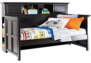 Daybed With Bookcase Belmar Black 4 Pc Bookcase Daybed Beds Black
