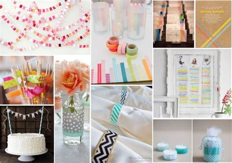 top ten diy washi tape wedding ideas confettiie
