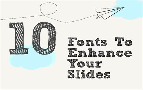 typography powerpoint presentation tips 10 awesome fonts for presentations