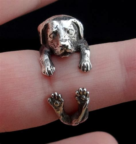 puppy ring labrador retriever ring sterling silver ring ring