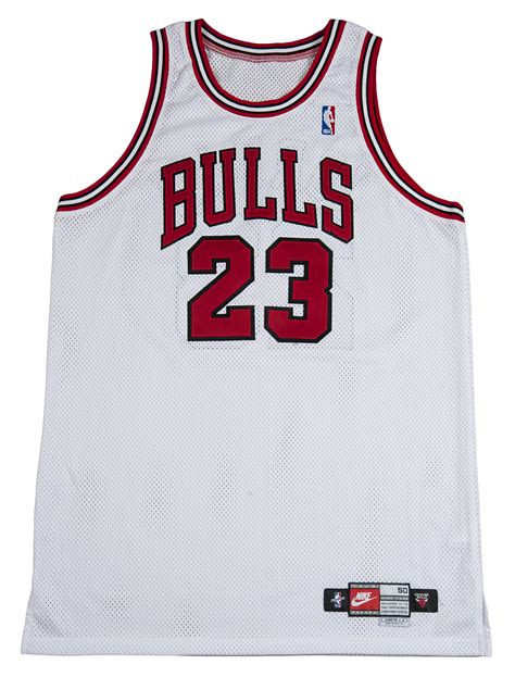Jersey Nba Bulls lot detail 1998 michael used and signed chicago bulls jersey from his