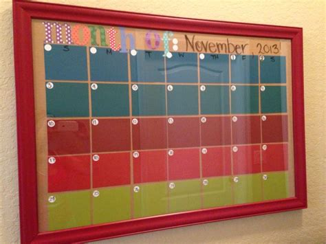 Edcc Calendar Monthly Calendar Made With Paint Swabs From Lowes