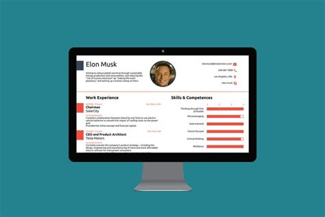 how to create a cv like elon musk s for your protagonist